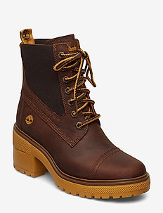 Silver Blossom Mid Bootie - wysoki obcas - buckthorn brown