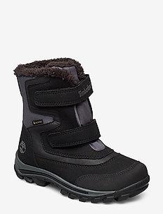 Infants Kids Girls Boys Black Waterproof Winter Ski Mucker Snow Boots Sizes 7-3