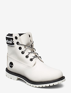 6in Premium Boot L/F- W - flat ankle boots - white