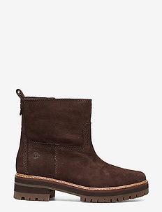Courmayeur Valley FauxFur - flat ankle boots - dark walnut