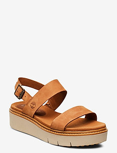 Safari Dawn 2 Band Sandal - flade sandaler - saddle