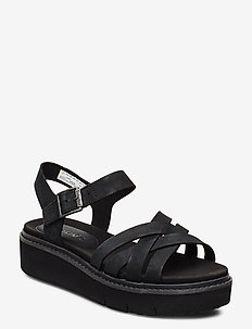 Safari Dawn Multi-Strap Sandal - flat sandals - jet black