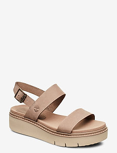 Safari Dawn 2 Band Sandal - flat sandals - taupe gray