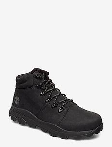 Brooklyn Hiker - laced boots - black