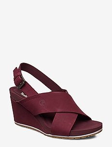 Capri Sunset X-Band Sandal - wedges - chocolate truffle