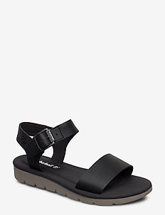 Lottie Lou 1-Band Sandal - flat sandals - jet black