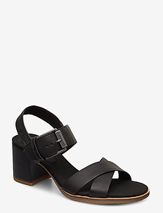 Tallulah May Cross Band Sandal - højhælede sandaler - jet black