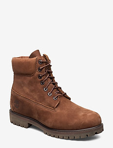 """6"""" Prem Rubber Cup Bt - laced boots - cocoa brown"""