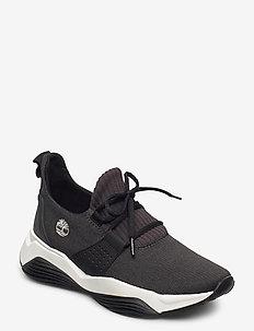 EMRLD BAY KNIT BLK - sneakers med lav ankel - black