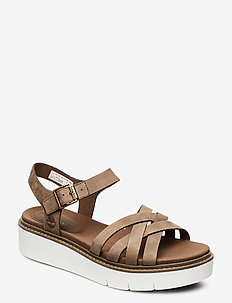 Safari Dawn Multi-Strap Sandal - flat sandals - canteen