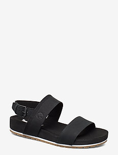 Malibu Waves 2 Band Sandal - flat sandals - black