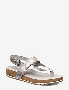 Malibu Waves Thong - flat sandals - silver