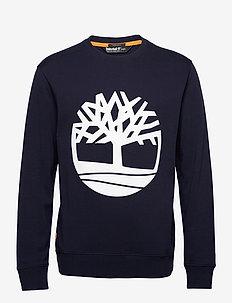 Core Logo Crew Bb - langermede t-skjorter - dark sapphirewhite
