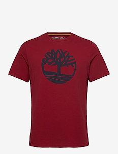 SS K-R Brand Tree T - korte mouwen - rhubarb