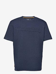 SS K-R Embossed Tee DARK SAPPHIRE - short-sleeved t-shirts - dark sapphire