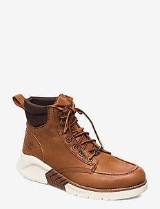 MTCR Moc Toe Boot - laced boots - saddle brown