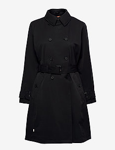 Cont. Trench - trenchcoats - black