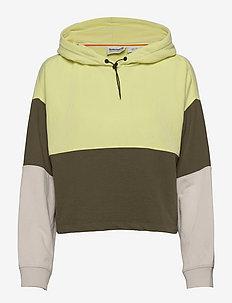 Colour Block Hoodie - hættetrøjer - grplef/lumgrn/sprkgrp