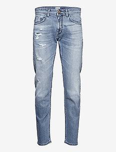 Distress Str Infigo D - regular jeans - distressed light