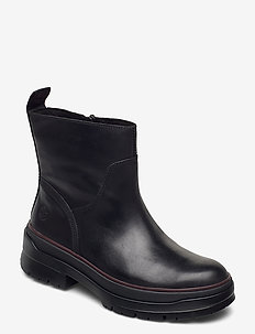 Malynn Warm Lined Side Zip WP - flat ankle boots - jet black
