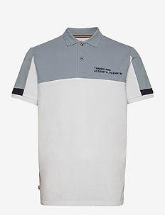 Colourblock Polo - kortærmede - white/ashley blue