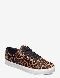 SKYLA BAY LTHR OX MD BRN - sneakers med lav ankel - cheetah print