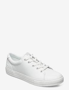 SKYLA BAY LTHR OX WHI - sneakers med lav ankel - white