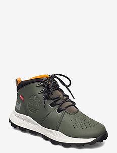 BROOKLYN CITY MID DK GRN - höga sneakers - grape leaf