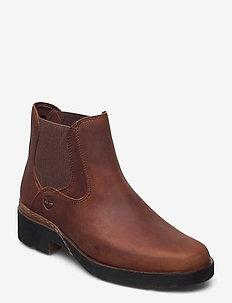 Graceyn Chelsea - chelsea boots - saddle