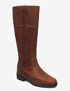 Graceyn Tall Side Zip WP - høye boots - saddle