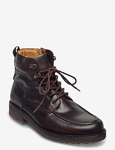 Oakrock WP MT Zip Boot - med snøring - dark brown