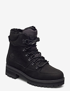 Courmayeur Hiker WP Fur Lined - platte enkellaarsjes - jet black