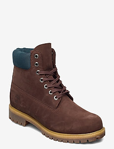 6 Inch Premium Boot - laced boots - potting soil