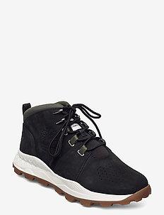 BROOKLYN CITY MID BLK - laced boots - black