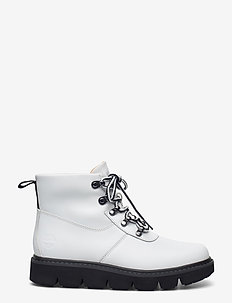 RAEWOOD ALPINE HKR WHI - flat ankle boots - white