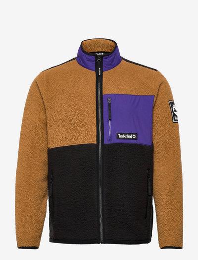 OA Sherpa Jacket - teddy-truien - rubber-black-deep blue