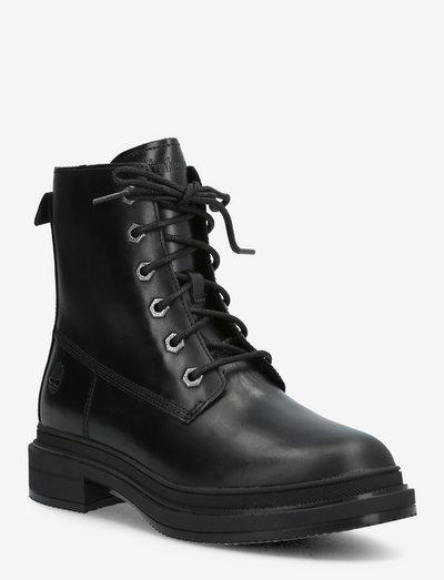 Lisbon Lane Collarless Boot - flache stiefeletten - jet black