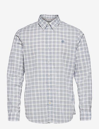 LS Stretch Check - geruite overhemden - white yd