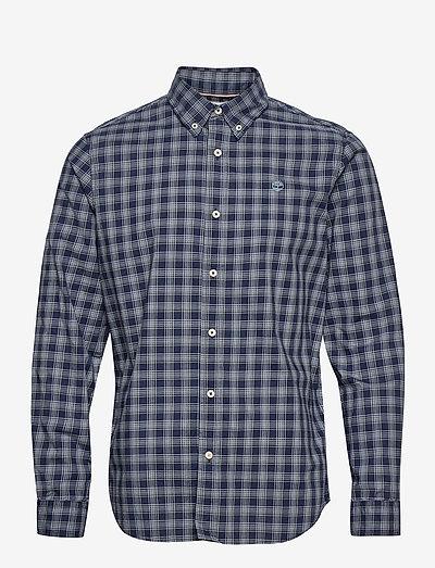 LS Stretch Check - geruite overhemden - dark sapphire yd