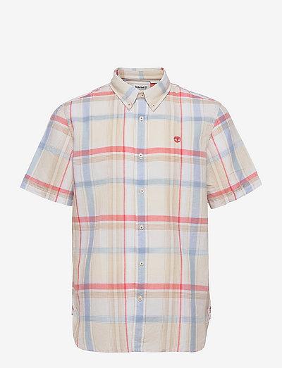 SS Linen Madras - rutiga skjortor - white yd