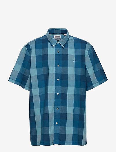SS YD Stripe Seer - rutiga skjortor - blue topaz yd