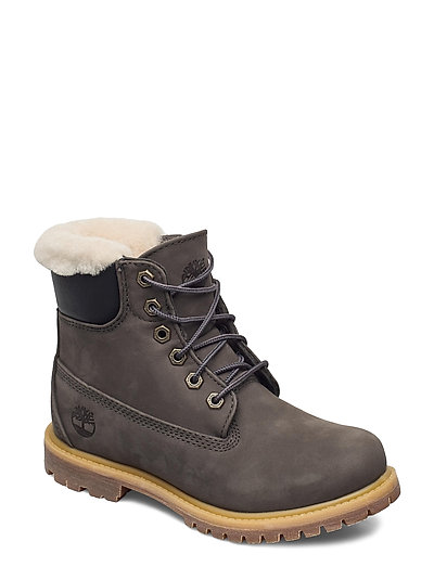6in Prem Shearling Dk Gry Shoes Boots Ankle Boots Ankle Boot - Flat Grau TIMBERLAND