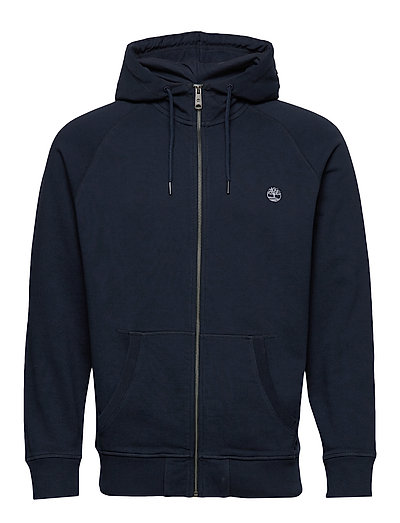 E-R Basic Reg Zip Thru Hoodie Pullover Blau TIMBERLAND