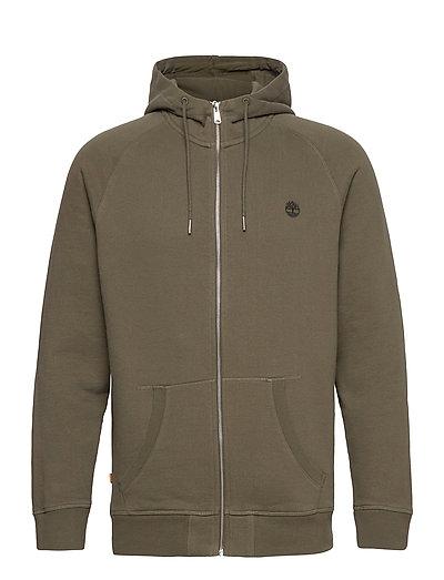 E-R Basic Reg Zip Thru Hoodie Pullover Grün TIMBERLAND