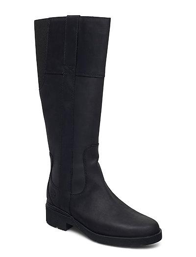 Graceyn Tall Side Zip Wp Hohe Stiefel Schwarz TIMBERLAND   TIMBERLAND SALE