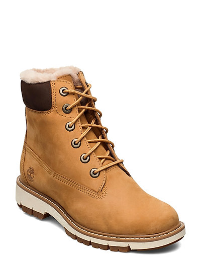 Lucia Way 6in Warm Lined Boot Wp Shoes Boots Ankle Boots Ankle Boot - Flat Beige TIMBERLAND   TIMBERLAND SALE