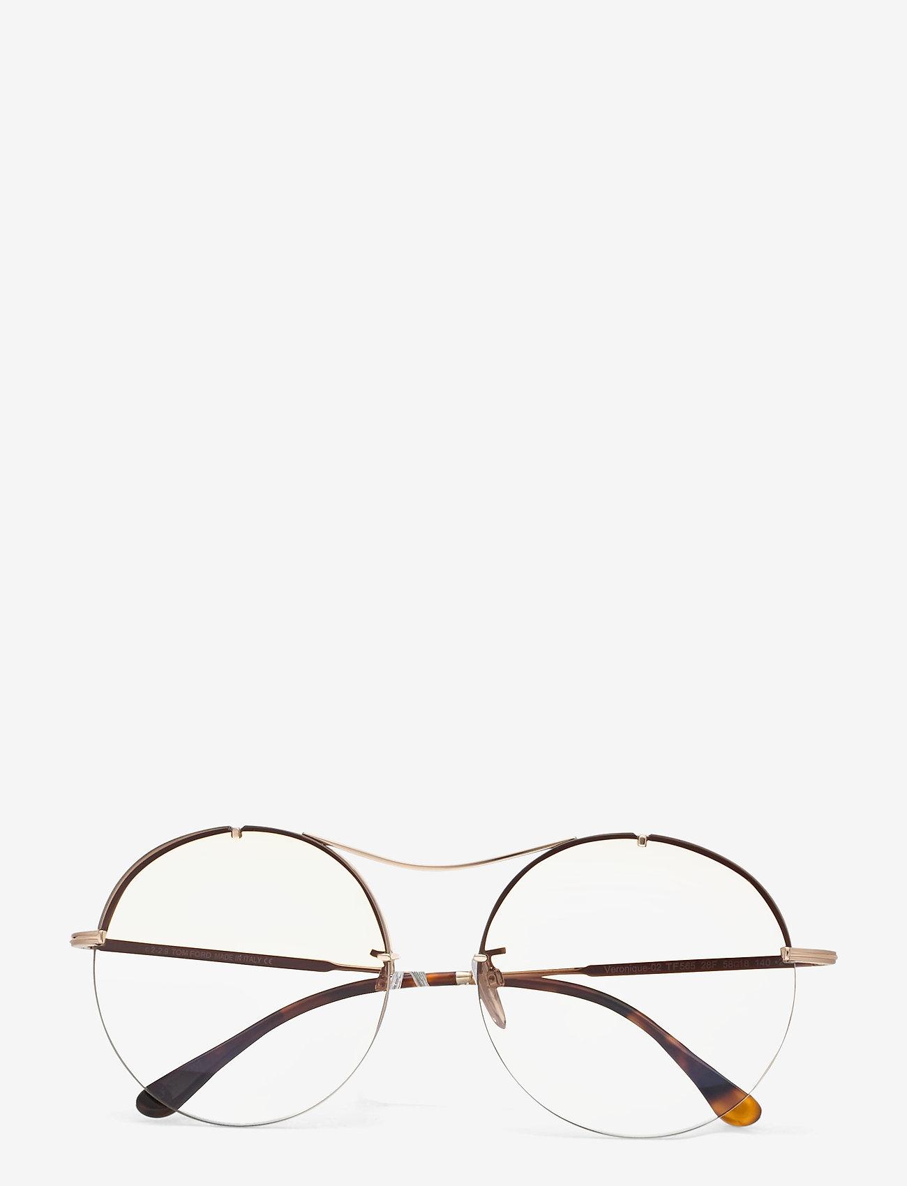 Tom Ford Sunglasses - VERONIQUE-02 - rond model - shiny rose gold - 0