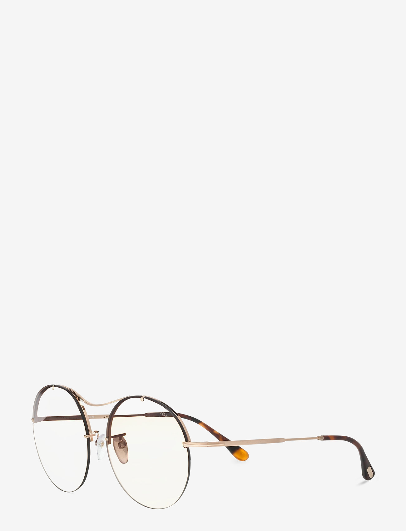 Tom Ford Sunglasses - VERONIQUE-02 - rond model - shiny rose gold - 1