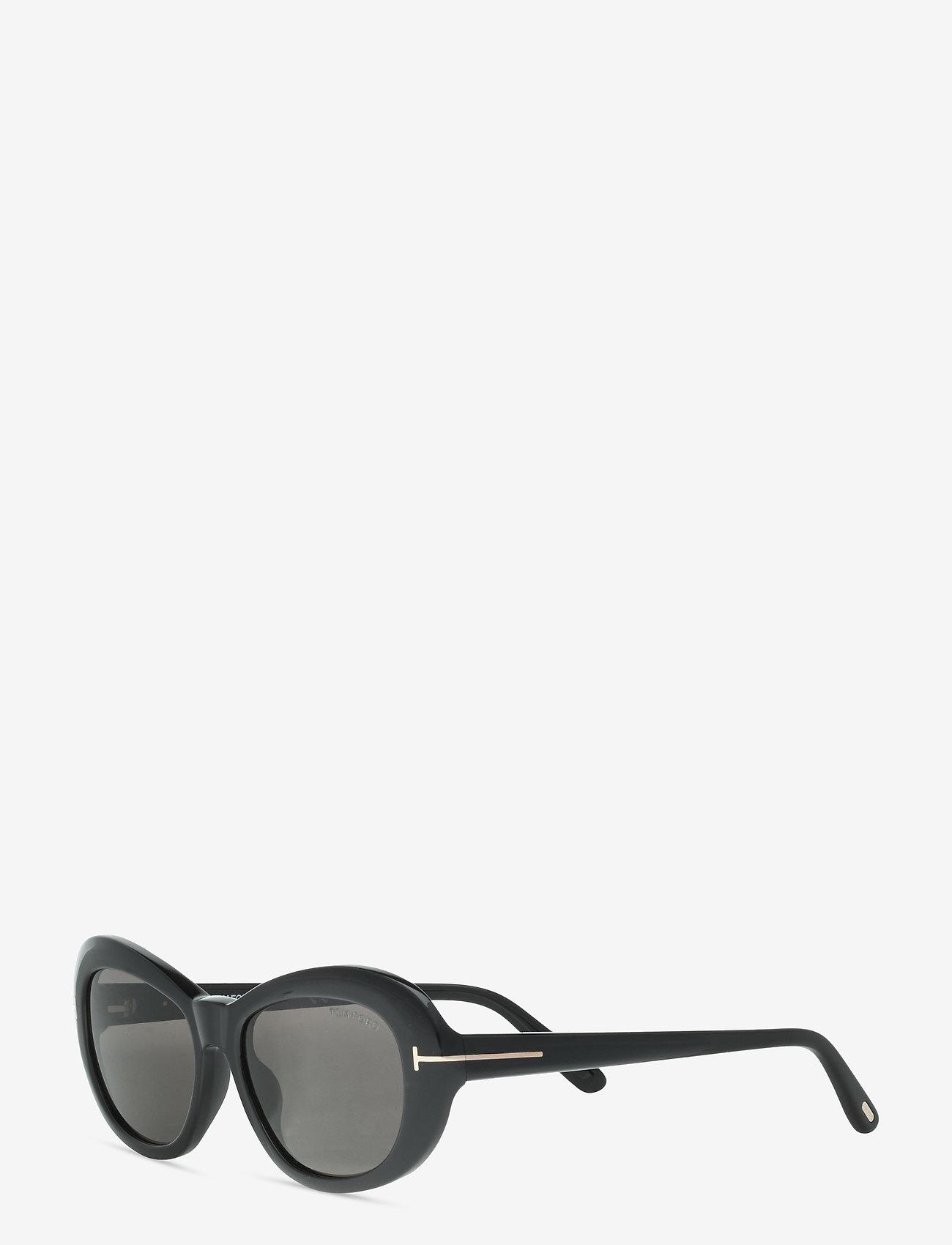 Tom Ford Sunglasses - ELODIE - rond model - shiny black - 1