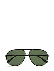 Tom Ford Cliff - 02N - MATTE BLACK / GREEN